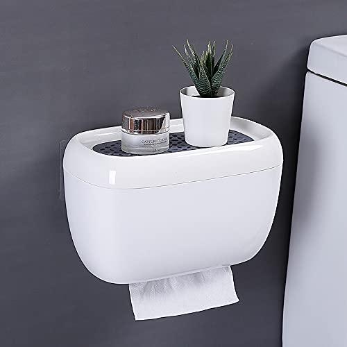 Sxcespp Toallero de Papel Impermeable para Inodoro, Estante de baño montado en la Pared, Accesorios para el hogar, cajones autoadhesivos para el hogar, Adecuado para Cocina, Dormitorio, baño