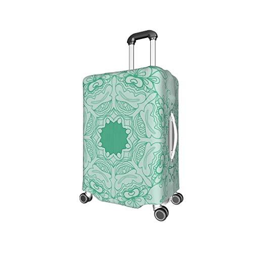 Bekende MediumAquamarijn Mandala Travel Bagage Cover - Gepersonaliseerde Multi Size past veel koffer