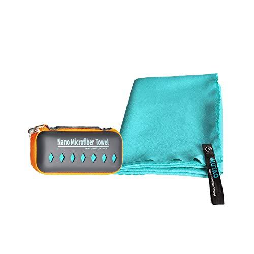 MUTAO Kühlhandtuch,Nano Mikrofaser Instant Cold Ice Handtuch,(80cmX120cm) Schnelltrocknend Sporthandtuch Anti-Allergy Gym Bandana mit Silikon-Aufbewahrungsbeutel