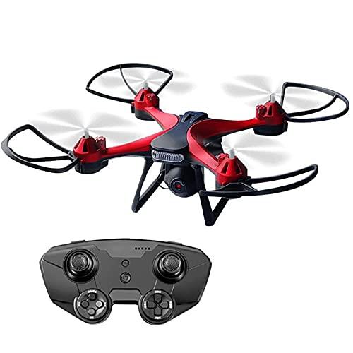 GZTYLQQ Drone con Fotocamera, per Adulti, quadricottero RC Pieghevole 4K con 120 Gradi;Grandangolo, luci a LED, Mini Drone per Bambini Principianti Rosso