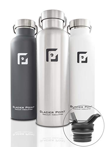 Glacier Point Vacuum Insulated Stainless Steel Water Bottle 25oz (Brushed Stainless)