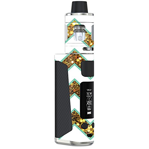 MightySkins Skin Compatible with Joyetech eVic Primo Mini – Glitzy Chevron | Protective, Durable, and Unique Vinyl Decal wrap Cover | Easy to Apply, Remove, and Change Styles | Made in The USA