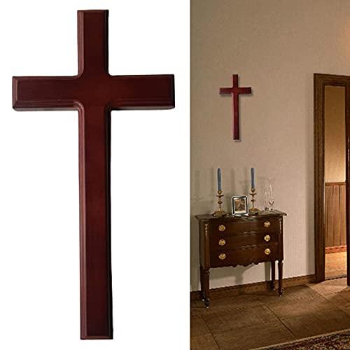 DASNTERED Muur Kruis, Muur Kruis Decor Home Decor Kerk Opknoping Ornament Muur Kruis Eenvoudige Christelijke Gift Massief Hout