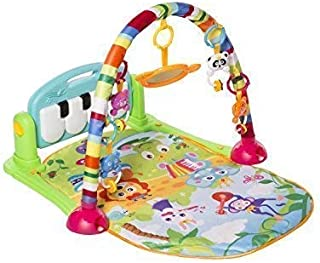 MooToys Kick and Play Newborn Toy with Piano for Baby 1 - 36 Month, Lay and Play, Sit and Play, Activity Toys, Play Mat Activity Gym for Baby. Blue