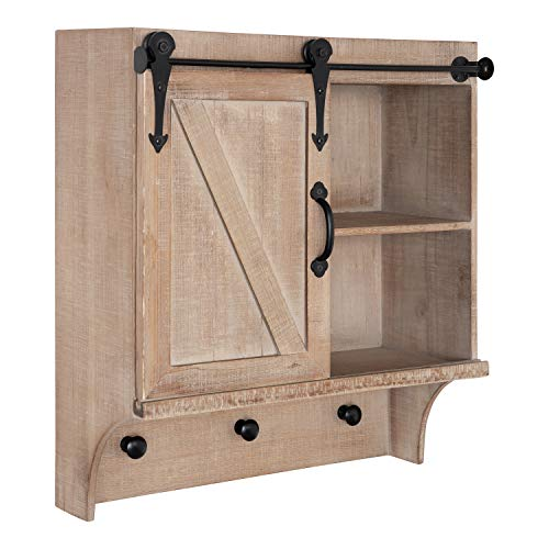 Kate and Laurel Cates Decorative Farmhouse Cabinet Wall Organizer