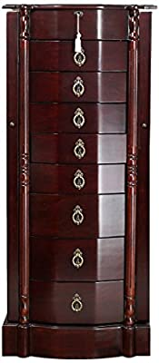 """Hives and Honey Robyn Jewelry Armoire, 41""""H x 17.25""""W x 12.5""""D, Cherry"""