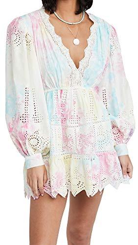 Hemant and Nandita Women's Short Cover Up Dress, Pastel, Large