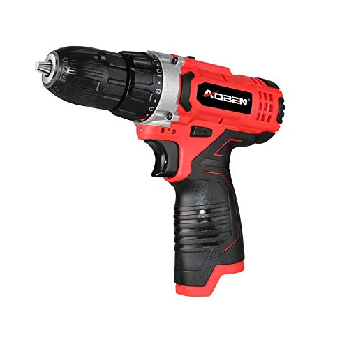 Best Buy! AOBEN 12V 7307-B Max Cordless 3/8-Inch Drill/Driver 2-Speed Lightweight for Men Women DIY