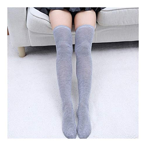 YUNGYE Calcetines de Mujer Calcetines Calcetines Largos hasta la Rodilla Calcetines Largos de algodón Medias sexys Medias (Color : Gray, Size : One Size)