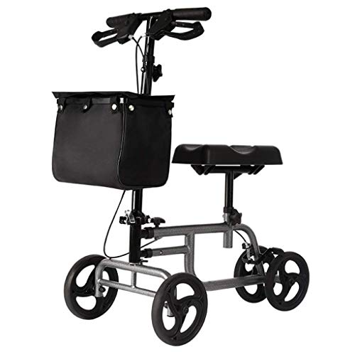 ZWMM Faltbarer Rollstuhl Elektrisch Knee Walker, Scooter Steerbarer Knee Walker Medical Scooter, Alternative zu kompakten Krücken bei Fußverletzungen, einstellbar für behinderte ältere