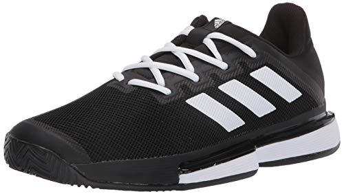 adidas Women's SoleMatch Bounce Tennis Shoe, Black, 8 M US