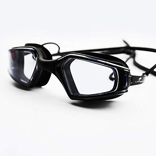 Zwembrillen, geen lekkage, anti-condens, uv-bescherming, triathlon-zwembril met gratis beschermetui voor volwassenen, heren, vrouwen, jeugd, kinderen, kinderen, kinderen, meerdere kleuren zwart (1)