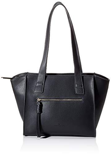 TOM TAILOR Shopper Damen, Schwarz, Katharina, 40x9x26 cm, TOM TAILOR, Handtasche, Umhängetasche