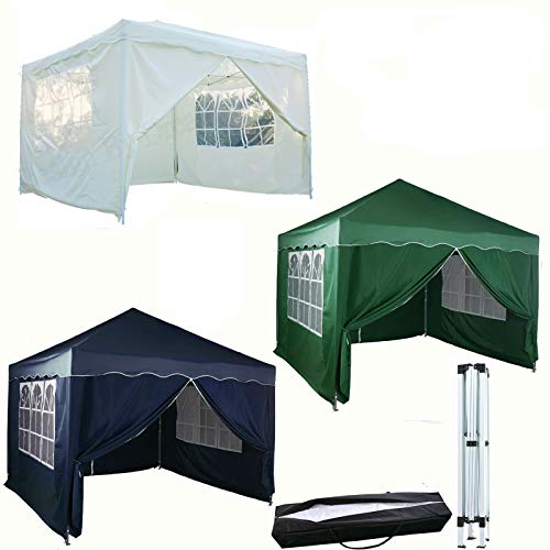 Feidak 3x3M Pop-up Gazebo Outdoor Garden Party Tent Folding Gazebo with 4 Side Panels | Carrying Bag | White