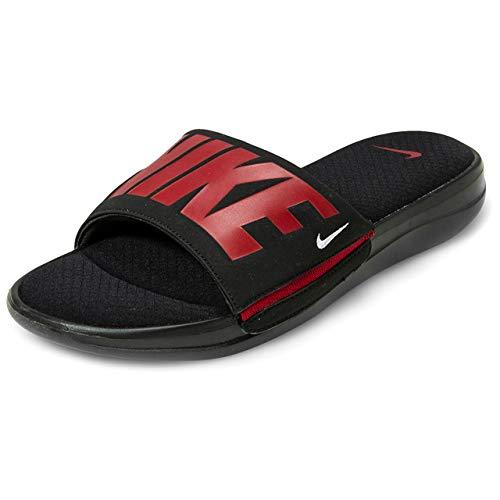 Nike Men's Ultra Comfort 3 Slide Sandal Black/Gym Red/White Size 10 M US