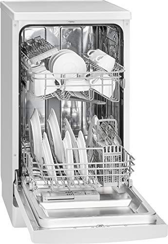 Bomann GSP 7407 Geschirrspüler, Stand / Unterbaufähig, 45 cm Ausführung, 10 Maßgedecke, 6 Programme, weiß