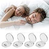 Schnarchstopper - 4er Set, Anti Schnarch Nasenclip Magnetischer Nasenspreizer aus Silikon, Gegen Schnarchen Nasenklammer für Komfortablen Schlaf und Bessere Atmung