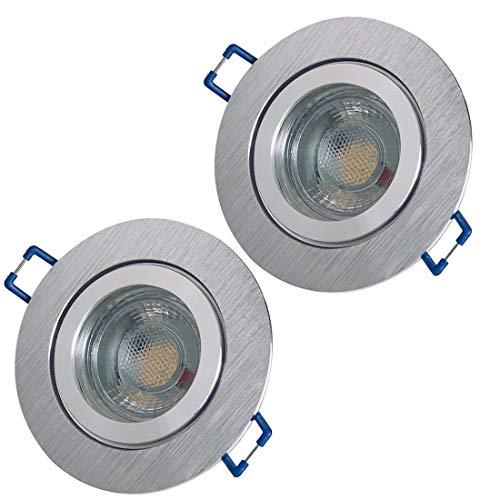 LED Bad Einbaustrahler 12V inkl. 2 x 3W LED LM Farbe BiColor IP44 LED Einbauleuchten Neptun Rund 3000K Deckenspots