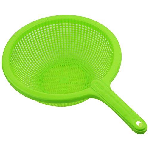 SODIAL(R) Colador deFiltro Verde con Mango largo de plastico