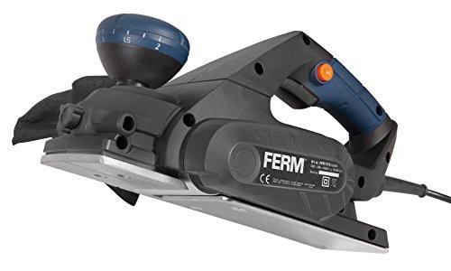 FERM Elektrohobel - Planungsmaschine 650W - Soft Griff - 8 Positionen - Parallelführung - Mit Staubfangsack
