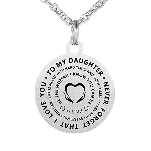 Amigo de la familia a mi hija collar amor impermeable inoxidable cadenas collar regalo de cumpleaños hija