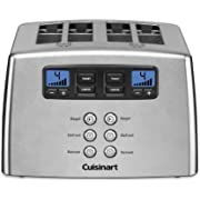 Cuisinart CPT-440P1 Touch to Toast Leverless toaster, 4-Slice, Brushed Stainless Steel