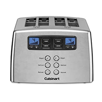 Cuisinart Touch to Toast Leverless toaster 4-Slice Brushed Stainless Steel