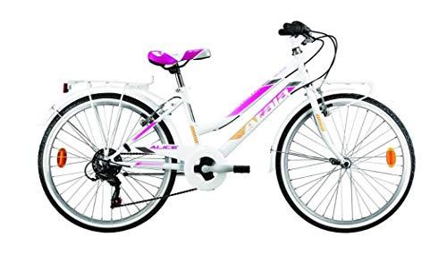 Atala Bicicletta da Bambina Modello 2020 City Bike Alice 6V 24 Pollici Colore Bianco