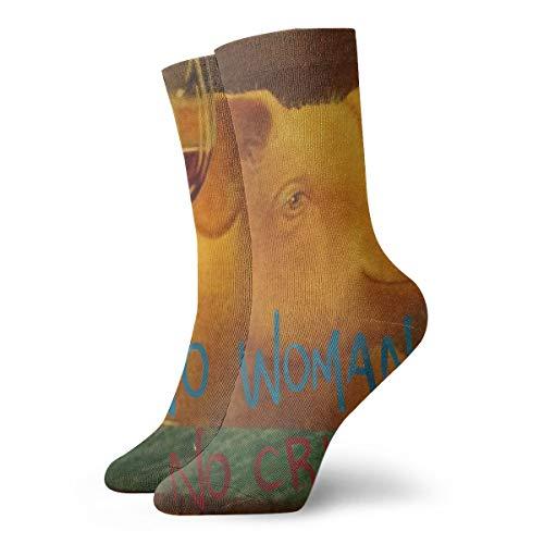 BJAMAJ Unisex Sokken Knorretje Proeven Wijn Interessant Polyester Crew Sokken Volwassene Sokken Katoen