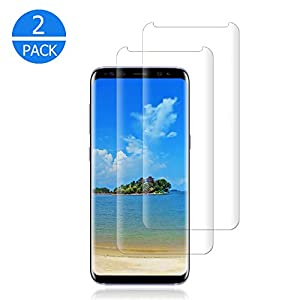 [2-Pack] Galaxy S9 Plus Screen Protector,Tempered Glass Screen Protector with [9H Hardness][Easy Bubble-Free…