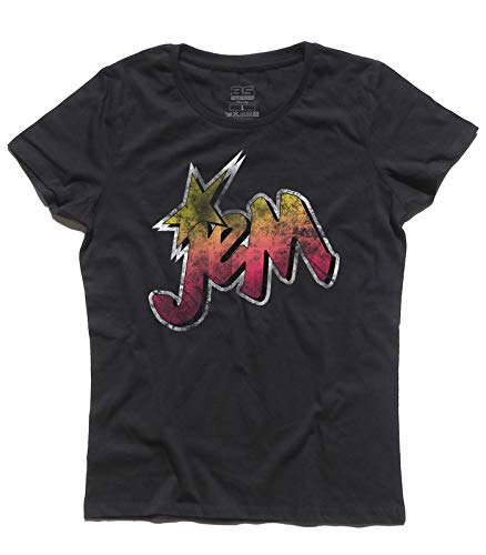 Women's t-Shirt Jem And The Holograms Logo Vintage - Rock And Roll Cartoon
