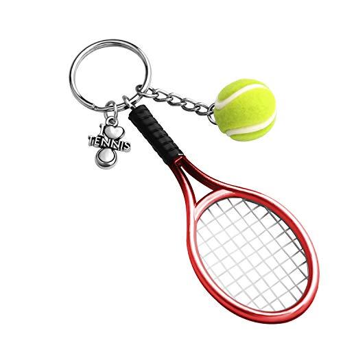 CHOORO Tennis Player Gifts 3D Mini Tennis Racket a...