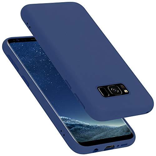 Cadorabo Funda para Samsung Galaxy S8 en Liquid Azul - Cubierta Proteccíon de Silicona TPU Delgada e Flexible con Antichoque - Gel Case Cover Carcasa Ligera