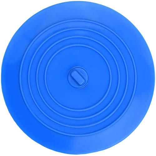 Favson Silikon Wannenstopfen Ablaufstopfen für Küche, Bad und Wäsche 6 Zoll (Blau)