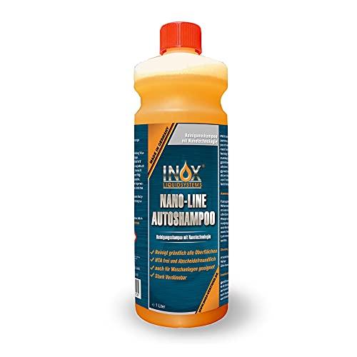 INOX® Nano Line Autoshampoo Konzentrat 1L mit Lotuseffekt - Fahrzeugreiniger Wash & Wax - Für Glanz & Schutz
