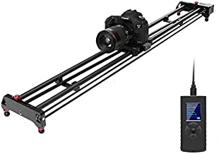 GVM Motorized Camera Slider Track Dolly Sliders Rail System with Motorized Time Lapse and Video Shot, with Remote Controller, 120 Degree Panoramic Shooting 49