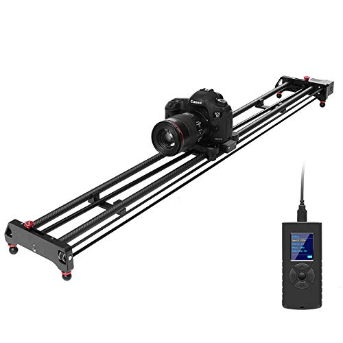 GVM Motorized Camera Slider, 48'/120CM Carbon Fiber Camera Slider with Time-Lapse Photography, Automatic Round Trip, Tracking Shooting and 120 Degree Panoramic Shooting, with Remote Controller