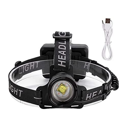 SONG Lumière à tête, Chargement USB Haute lumière Lumineuse, Phare Portable extérieure, projecteur de projecteur étanche Multifonctionnel, Lampe de Poche for Cyclisme Camping