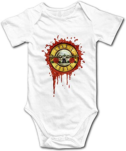 Guns N Roses GNR Baby Boys Girls Onesies Body de Manga Corta