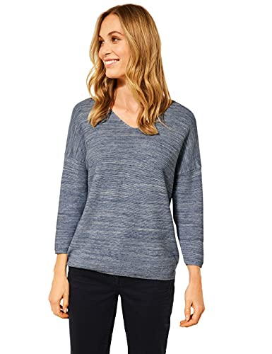 Cecil Damen 301550 Pullover, Blue Denim Melange, XL