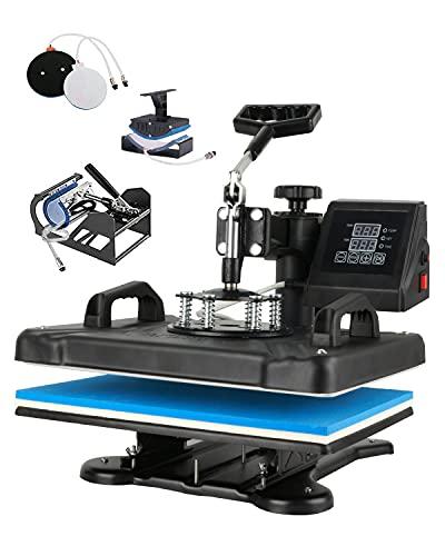 SURPCOS 12'x 15' Heat Press Machine 5 in 1 Tshirt Printing Press Machine Combo...