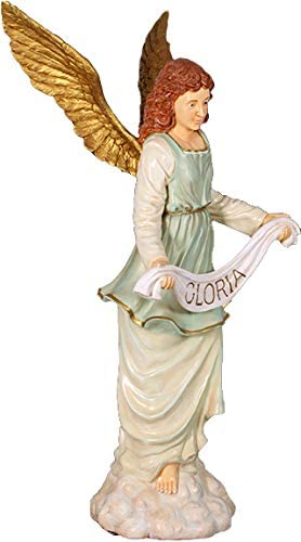 Queens of Spring new work Christmas High material 6' Life Size Angel Nativity Gloria G White