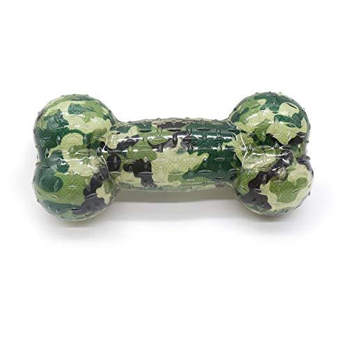 PUPWONG Quietschendes Hundespielzeug aus Latex, Welpenspielknochen mit Dornen, Spielzeug zum Spielen und zum Training