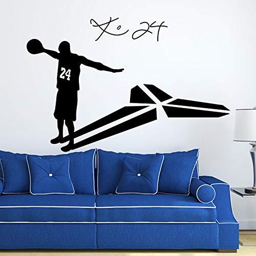 Pegatinas de pared, tema deportivo Baloncesto Bryant para la habitación de los niños Adhesivo para niños Pegatinas murales Decoración Pegatina de oficina romántica Murales Regalo Acrílico 70x103cm