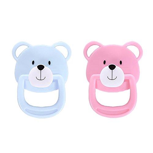 Per Lovely Magnet Schnuller Süße Bär Magnetischer Schnuller Nippel Reborn Puppe Zubehör für Neugeborene Baby Puppen 4 Styles erhältlich