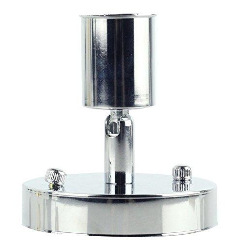 Rétro minimaliste plafonnier 1 ampoule réglable Direction Design Vintage simple Plafonnier éclairage lampe en fer pour plafond cuisine couloir Appartement Loft Galerie entrée Ø10 cm E27 Chromé