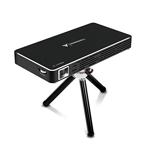 Mini Proyector, Tenswall Portátil DLP Video Proyectors Android 7.1 Pico Projector 1080P Full HD Home Cinema, Entrada HDMI a Su...