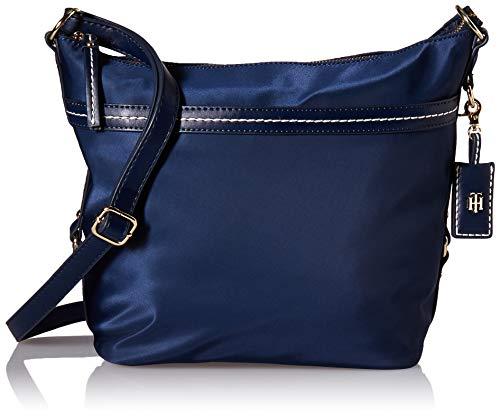 Tommy Hilfiger Bag for Women Work Hobo-Tasche für Damen - Nylon, Tommy Navy, Einheitsgröße