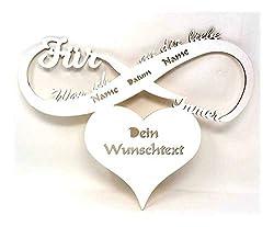Für immer und ewig was ich an dir Liebe Geschenk Hochzeitspaar Partnerin Freundin Led Lampe mit Namen Datum personalisiert