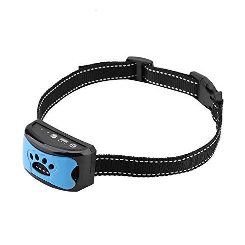Meiyya 𝐂𝐡𝐫𝐢𝐬𝐭𝐦𝐚𝐬 𝐆𝐢𝐟𝐭 Dispositivo di Controllo dell abbaio, Collare Anti-abbaio Impermeabile Ricaricabile, rilevamento dell abbaio Senza Collare Antiurto per Cani (Blu)
